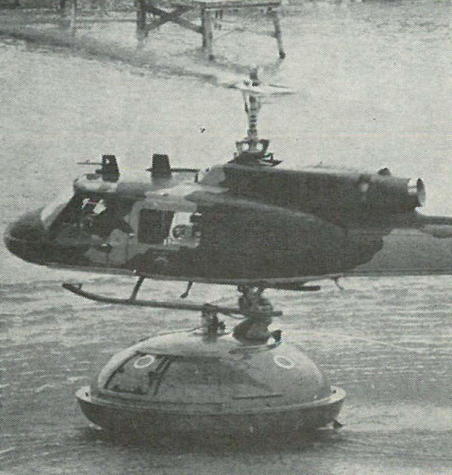 original brucker single fall lifeboat capsule